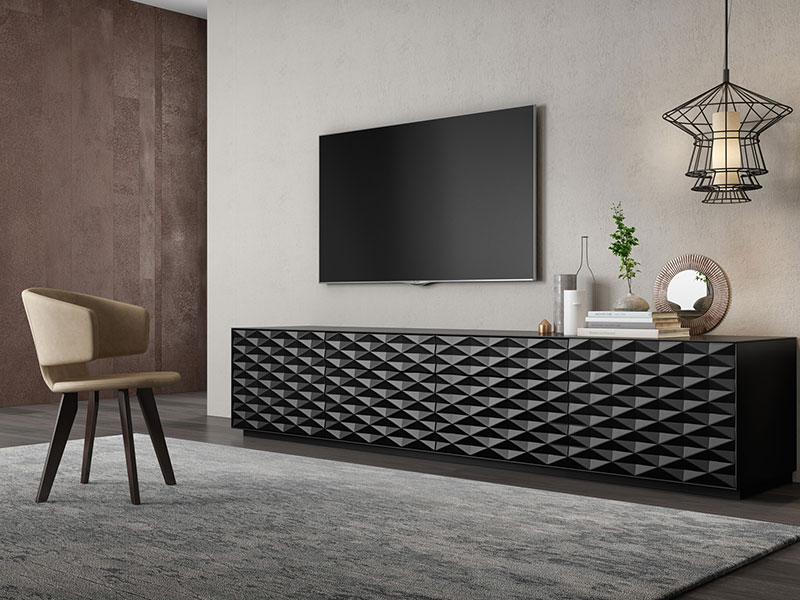Photo d'un Meuble TV Cross de la collection Luxury de chez Mobenia